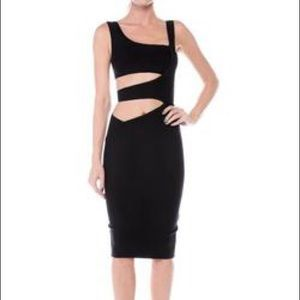 Jessica Bara Chanti Cut Out Bandage Midi dress